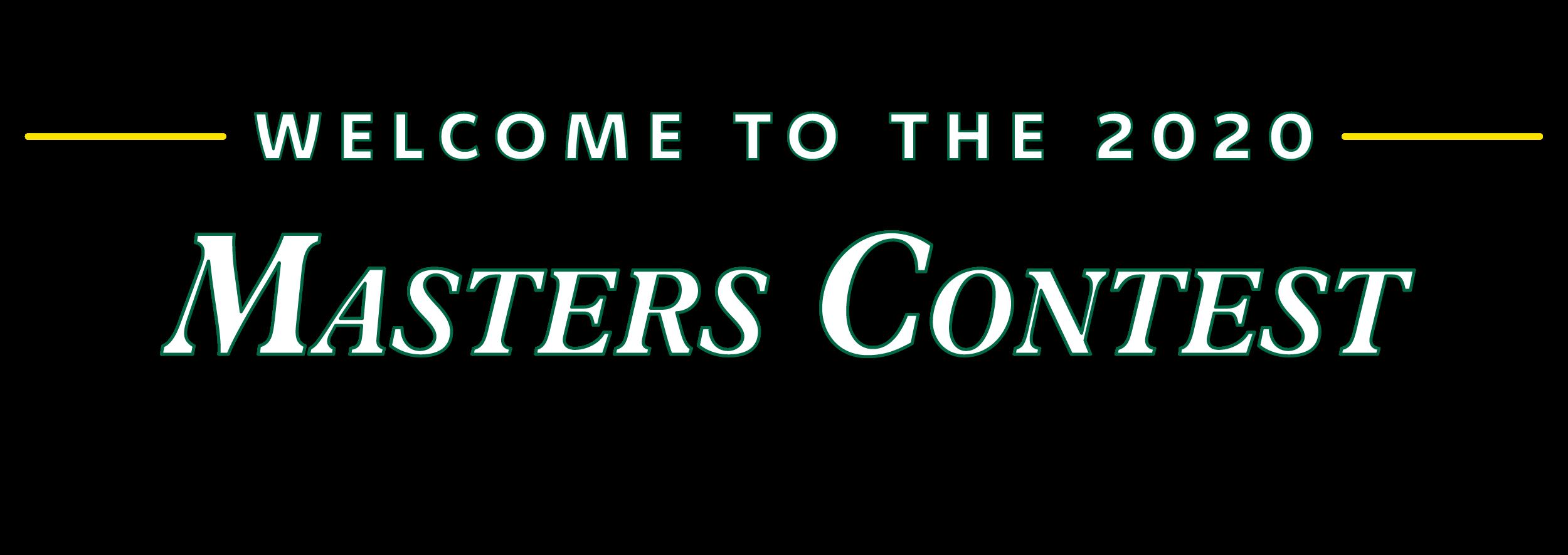 2020 Masters Contest